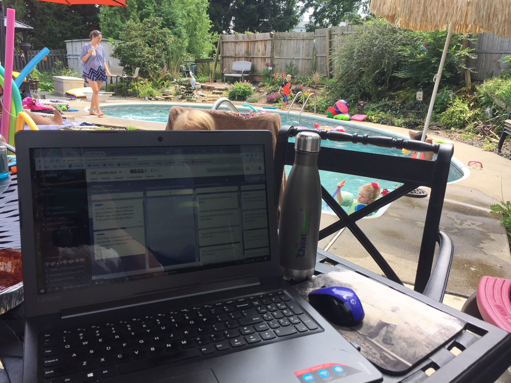 Who complains about working poolside? I guess I do.